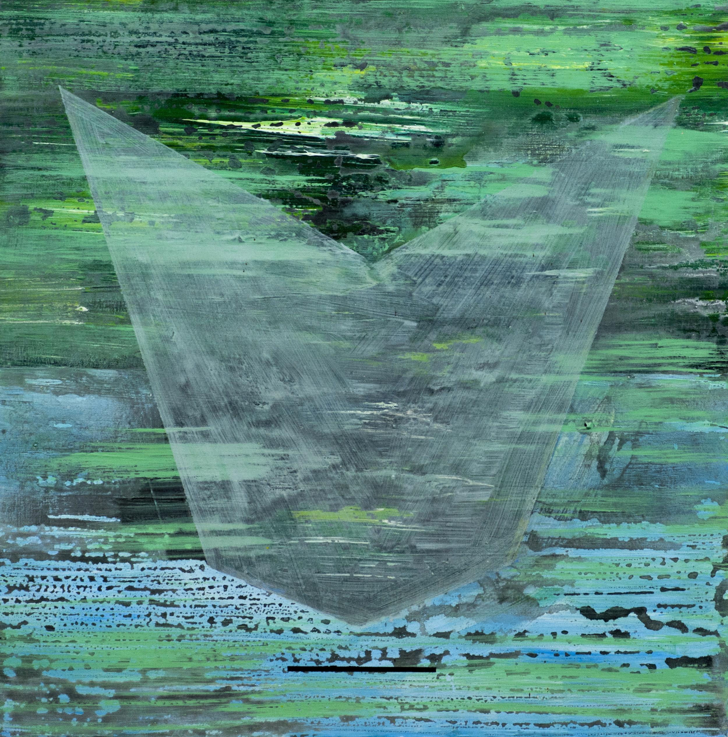 Motief 5a, 2009, 50x50 cm, acryl op katoen