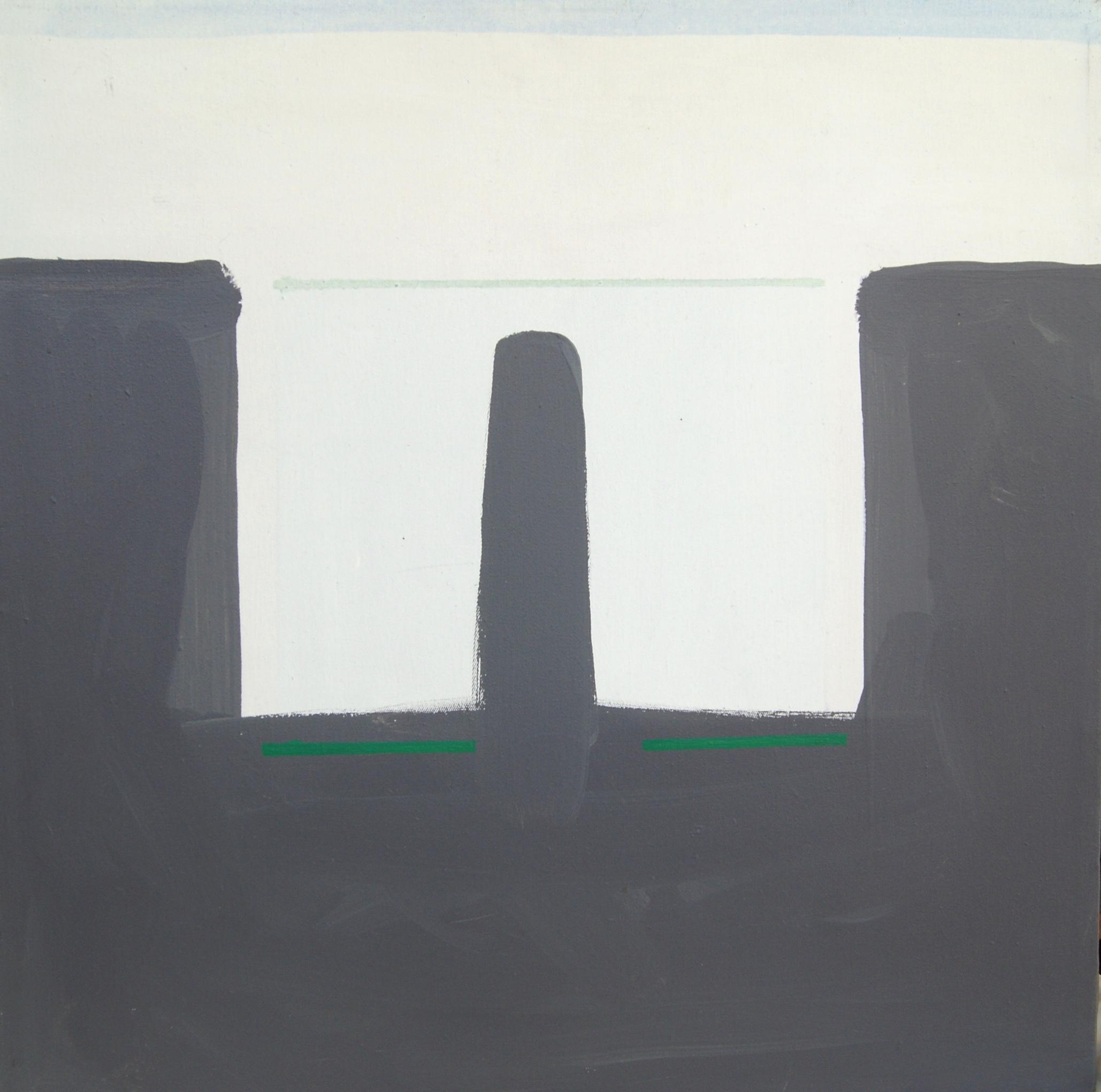 Zonder titel, 1995, 50x50cm, acryl op katoen